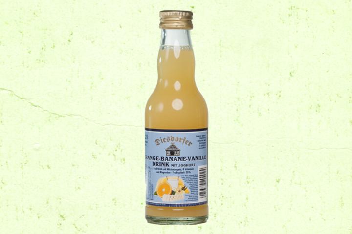Orange-Banane-Vanille Drink mit Joghurt