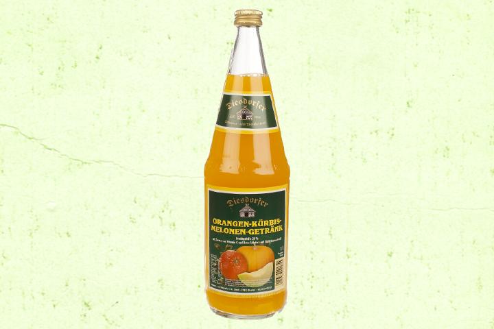 Orange-Kürbis-Melone Fruchtsaft
