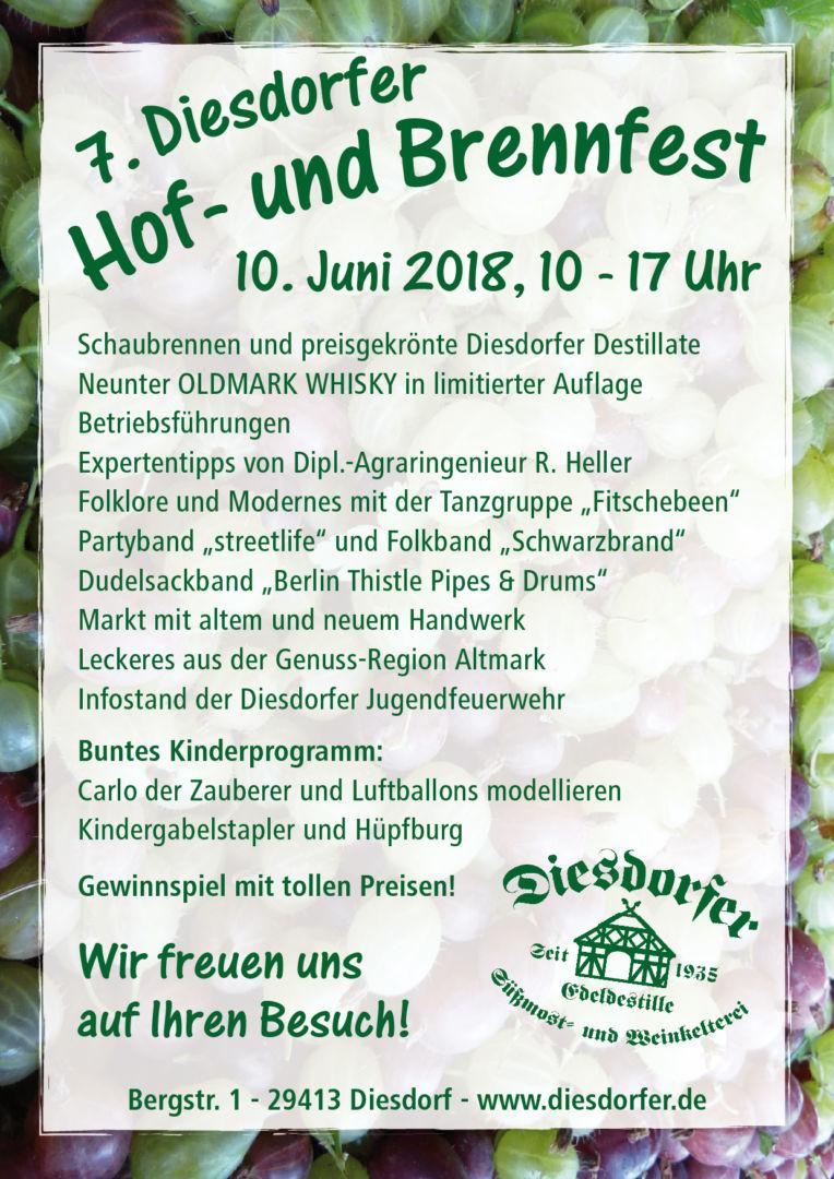 7. Hof- und Brennfest am 10. Juni 2018