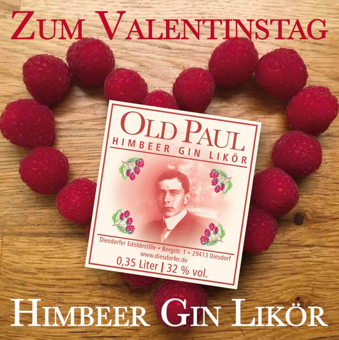 Zum Valentinstag: Himbeer Gin Likör