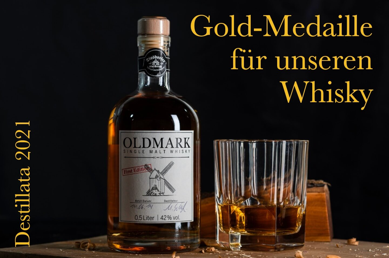 Gold für unseren Whisky!